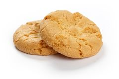 Yellow crunchy cookie stock photography
