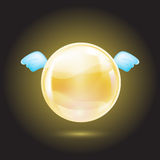 Yellow crystal ball Stock Images