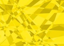 Yellow Crystalline Background Stock Photos
