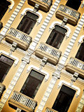 Yellow Cuban Building Royalty Free Stock Image