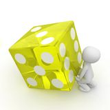Yellow cube Stock Images