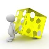 Yellow cube 2 Stock Photos