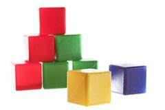 Yellow cube is the leader Royalty Free Stock Photos
