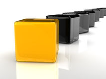 Yellow cube Stock Photos