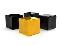 Yellow cube Stock Image