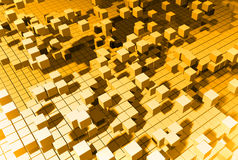 Yellow cubes Royalty Free Stock Photography