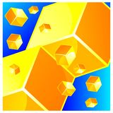 Yellow cubes background, stock background. EPS file available. see more images related vector illustration