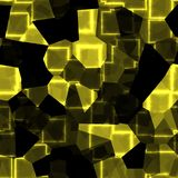 Yellow cubes texture royalty free illustration