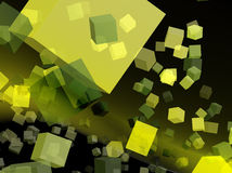 Yellow cubes for webdesign Royalty Free Stock Images