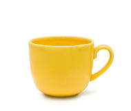 The yellow cup Stock Photos