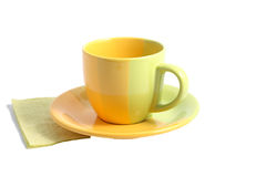 Yellow  cup Stock Photo