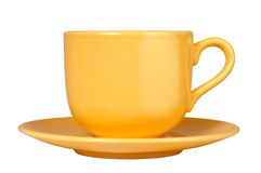 Yellow cup Royalty Free Stock Images