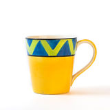 Yellow cup Royalty Free Stock Image