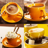 yellow cup coffee Royalty Free Stock Image