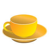 The yellow cup Stock Photo