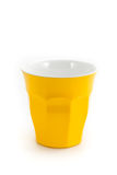 Yellow cup glass for milk or coffee water suitable for picnic pa Royalty Free Stock Photos