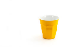 Yellow cup glass for milk or coffee water suitable for picnic pa Royalty Free Stock Photography