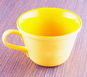 Yellow cup Royalty Free Stock Photos