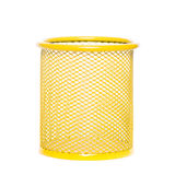 Yellow cup. For pencil or pen Royalty Free Stock Photography