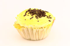 Yellow cupcake Royalty Free Stock Images