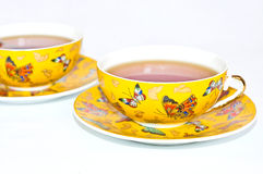 Yellow cups Royalty Free Stock Image