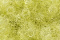 Yellow curly hair background Stock Photography