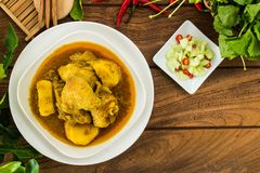 Yellow Curry Chicken. royalty free stock images