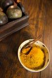 Yellow Curry Powder Stock Photos