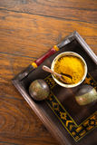 Yellow Curry Powder Stock Images