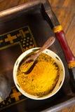 Yellow Curry Powder Royalty Free Stock Photos