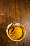 Yellow Curry Powder Stock Photo