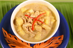 Yellow curry soup Royalty Free Stock Image