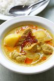 Yellow curry , thai food Royalty Free Stock Photography