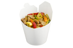 Yellow curry to go Royalty Free Stock Photo
