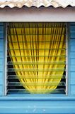 Yellow Curtain Royalty Free Stock Photo