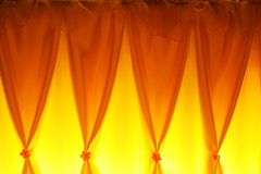Yellow curtain. Yellow colour curtain bright with beautiful lighting Royalty Free Stock Photos