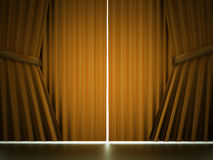 Yellow curtain cloth concept Stock Photography