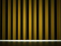 Yellow curtain drapes Stock Photos