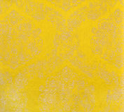 Yellow curtain fabric Royalty Free Stock Photo