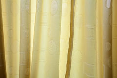 Yellow Curtain Texture Royalty Free Stock Images