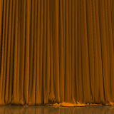 Yellow curtain in theater. Stock Images