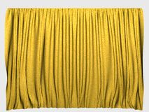 Yellow curtains Stock Photo