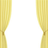 Yellow curtains background Stock Image