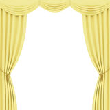 Yellow curtains background Stock Photos