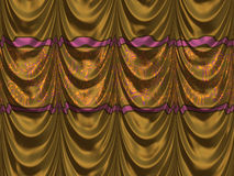 Yellow curtains Royalty Free Stock Photography