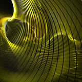 Yellow curve. S leading to tunnel Stock Photo