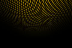 Yellow curve carbon fiber on the black shadow. Background and texture royalty free illustration
