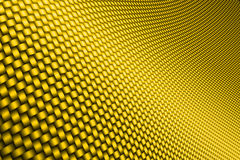 Yellow curve carbon fiber. On the black shadow. car accessories.  background and texture Stock Images