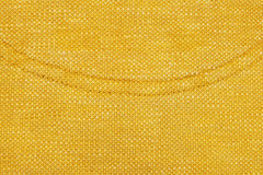 Yellow curved stitching detail Royalty Free Stock Image