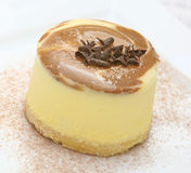 Yellow custard cake Stock Photography